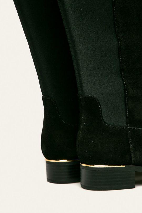 Calvin Klein - Kozaki skórzane Cholewka: Materiał tekstylny, Skóra zamszowa, Wnętrze: Materiał syntetyczny, Materiał tekstylny, Podeszwa: Materiał syntetyczny