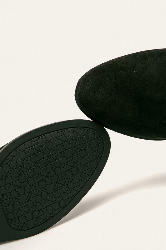 czarny Calvin Klein - Kozaki skórzane