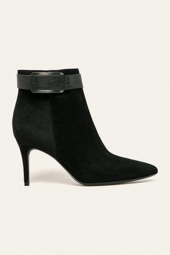 černá Calvin Klein - Nízké kozačky Dámský