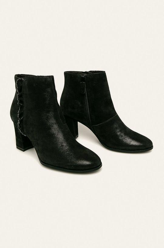 Tamaris - Cizme de piele negru