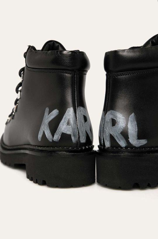 Karl Lagerfeld - Workery skórzane Cholewka: Skóra naturalna, Wnętrze: Materiał tekstylny, Skóra naturalna, Podeszwa: Materiał syntetyczny