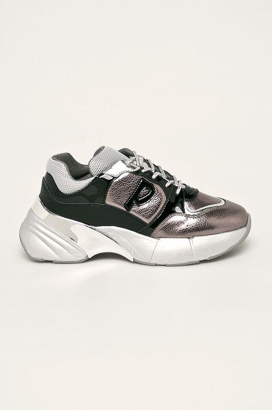 stříbrná Pinko - Kožené boty Dámský