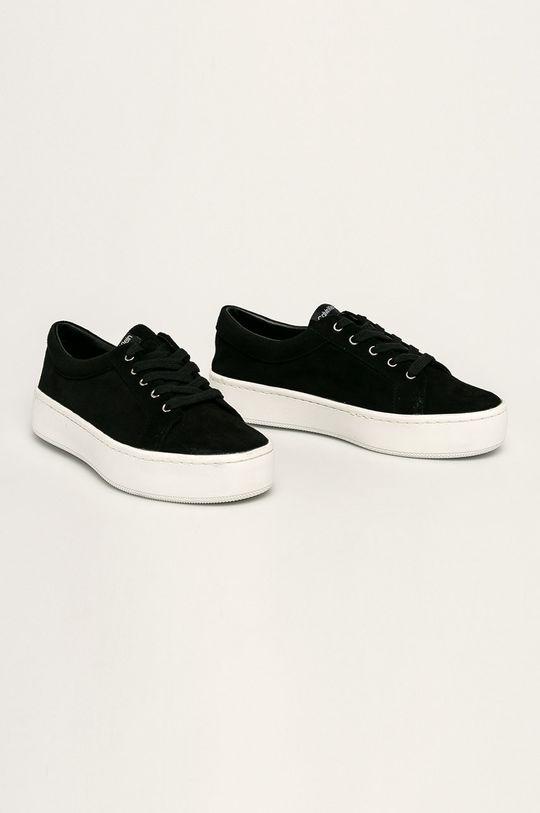 Calvin Klein - Kožené tenisky čierna