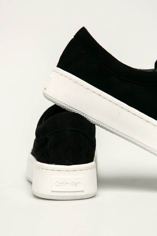 Calvin Klein - Kožené tenisky  Zvršok: Semišová koža Vnútro: Syntetická látka Podrážka: Syntetická látka