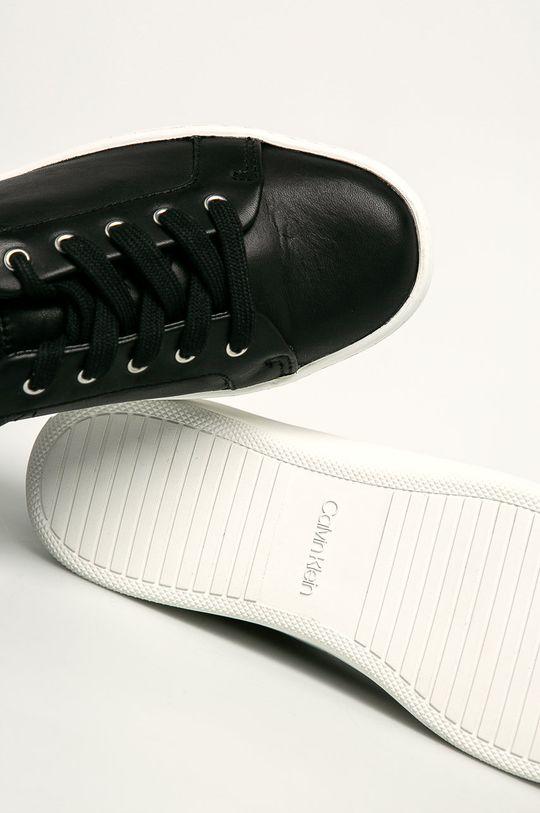 černá Calvin Klein - Kožené boty