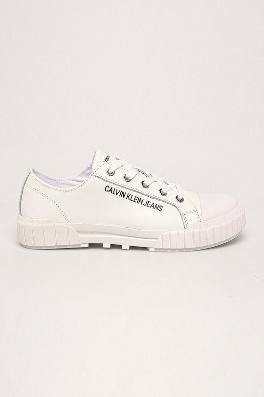 bílá Calvin Klein Jeans - Kožené tenisky Dámský