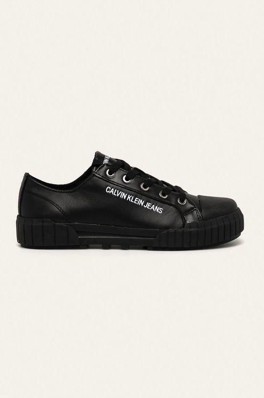 černá Calvin Klein Jeans - Kožené tenisky Dámský