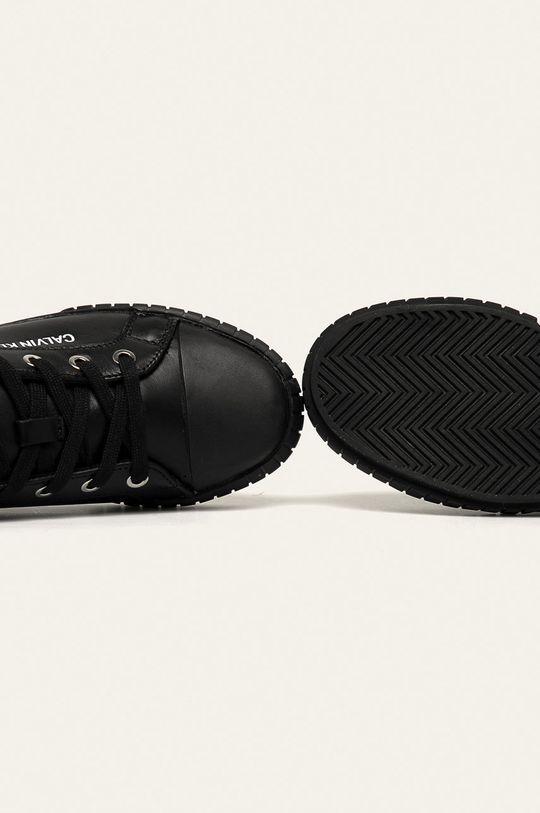 černá Calvin Klein Jeans - Kožené tenisky