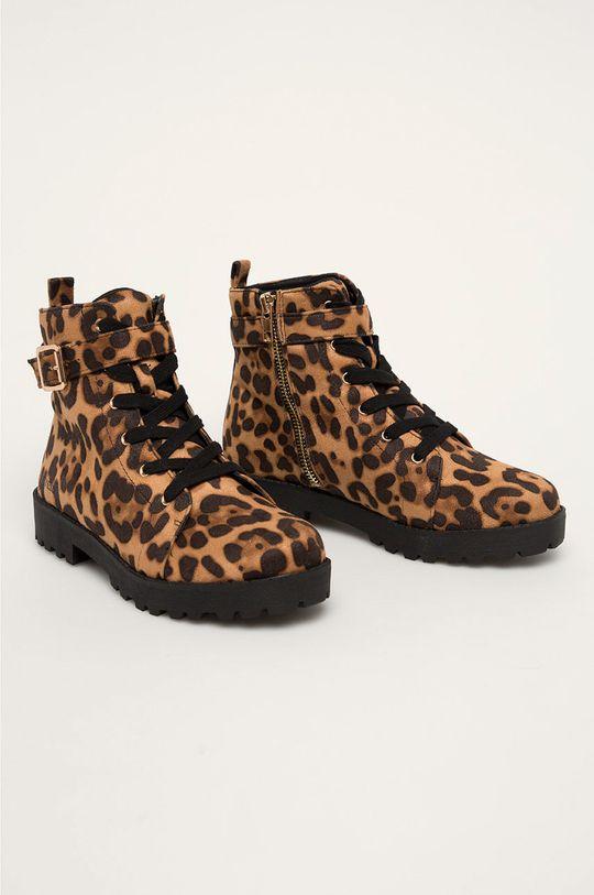 Guess Jeans - Дитячі черевики коричневий