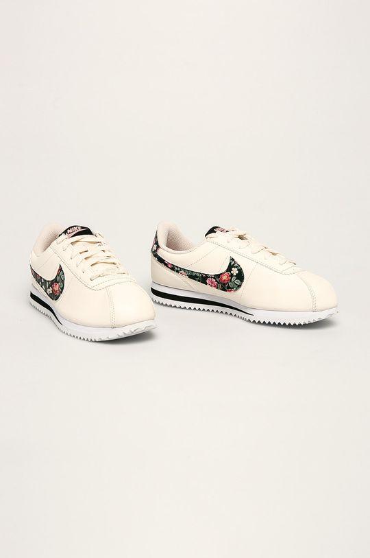 Nike Kids - Dětské boty Cortez Basic Ltr Vf smetanová