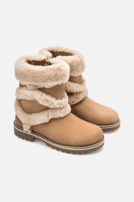 златисто-кафяв Mayoral - Детски чизми 31-35 Момиче
