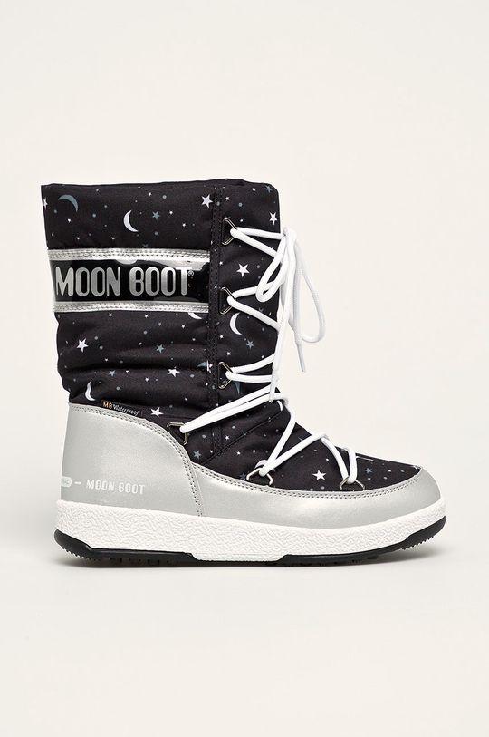 срібний Moon Boot - Дитячі чоботи Girlq Universe Для дівчаток