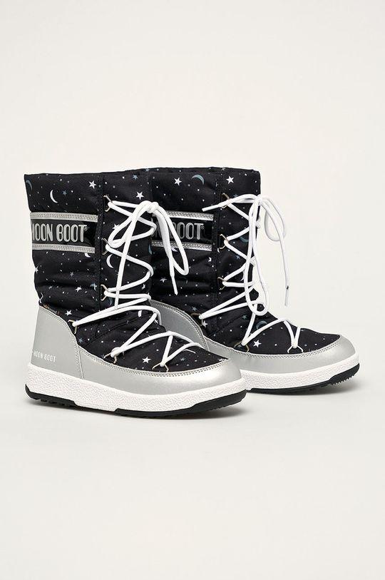 Moon Boot - Дитячі чоботи Girlq Universe срібний