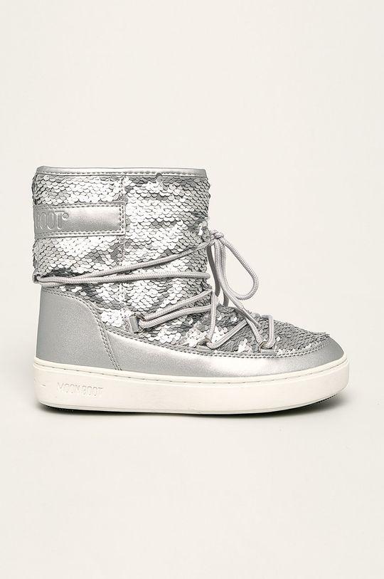 срібний Moon Boot - Дитячі чоботи Pulse Mid Для дівчаток