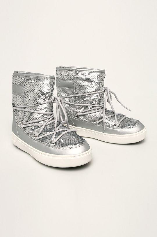 Moon Boot - Дитячі чоботи Pulse Mid срібний