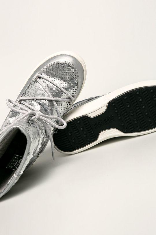 срібний Moon Boot - Дитячі чоботи Pulse Mid