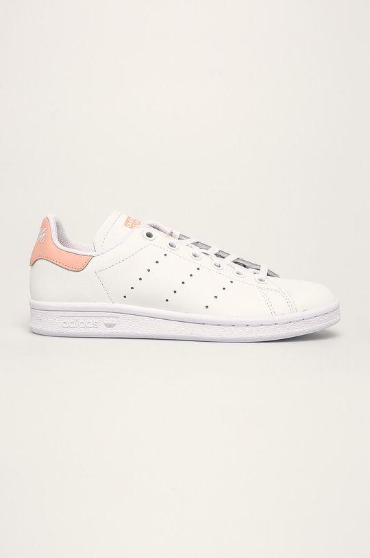 білий adidas Originals - Дитячі черевики  Stan Smith Для дівчаток