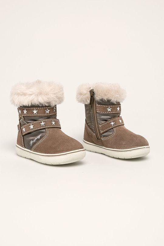 Primigi - Dětské boty světle šedá