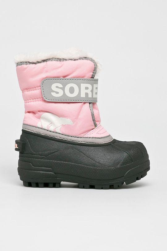 рожевий Sorel - Зимове взуття Childrens Snow Commander Для дівчаток