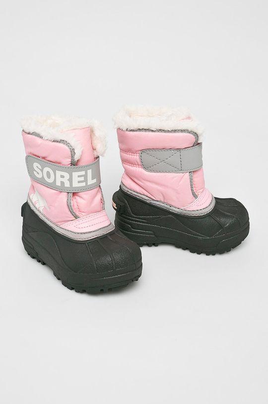 Sorel - Зимове взуття Childrens Snow Commander рожевий