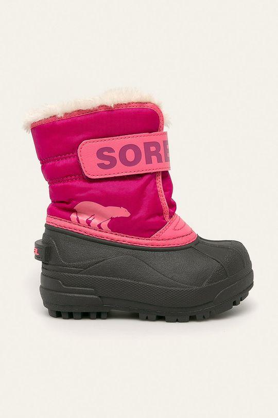 roz ascutit Sorel – Bocanci Childrens Snow Commander De fete