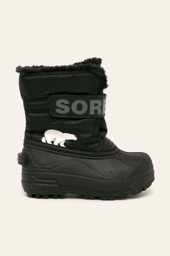 чорний Sorel - Зимове взуття Childrens Snow Commander Для дівчаток