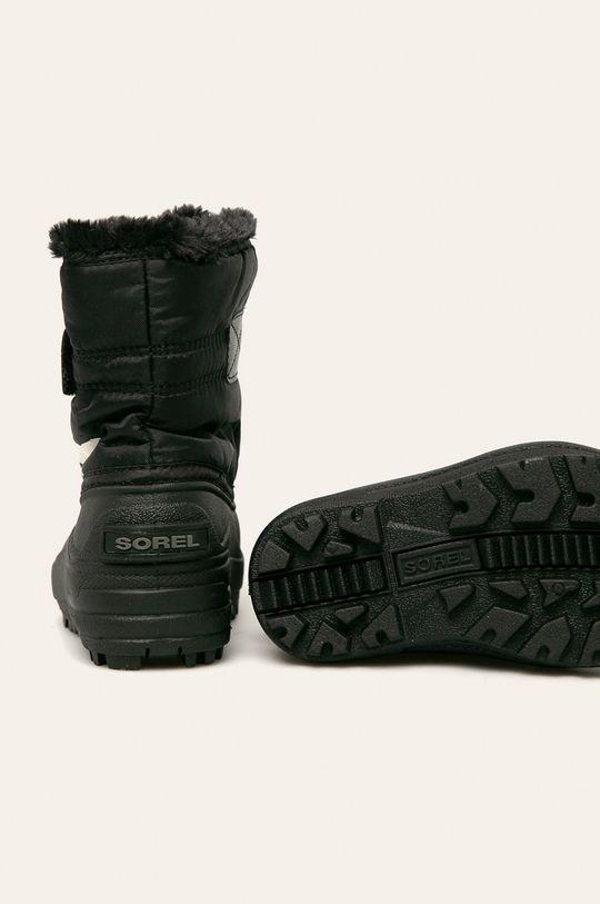 чорний Sorel - Зимове взуття Childrens Snow Commander