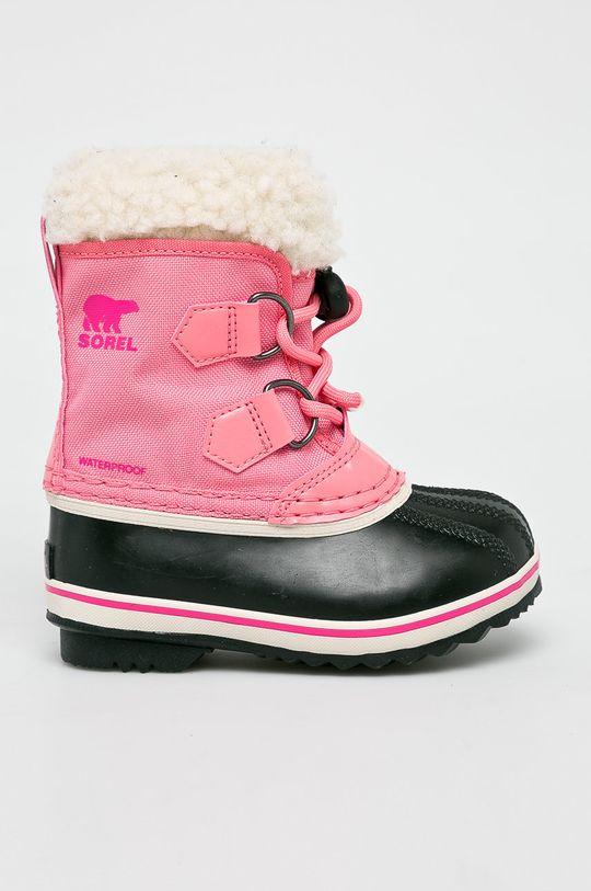 рожевий Sorel - Дитячі чоботи Childrens Yoot Pac Для дівчаток