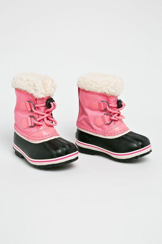 Sorel - Дитячі чоботи Childrens Yoot Pac рожевий