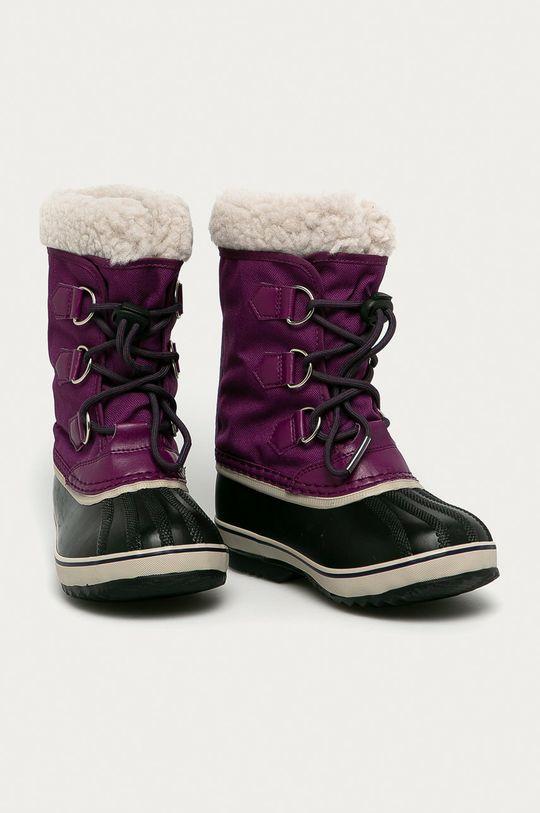 Sorel - Cizme de iarna copii Yoot Pac Nylon purpuriu inchis