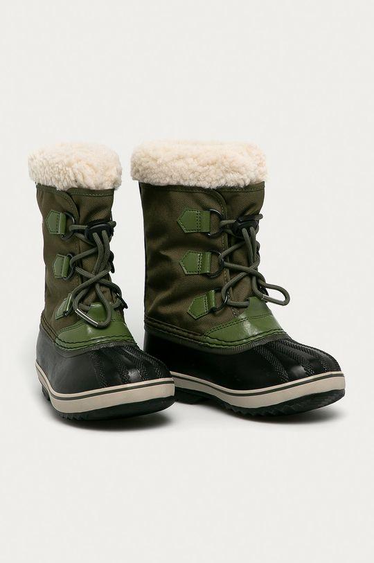 Sorel - Cizme de iarna copii Yoot Pac Nylon verde murdar