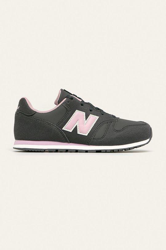 sivá New Balance - Detské topánky YC373CE Dievčenský