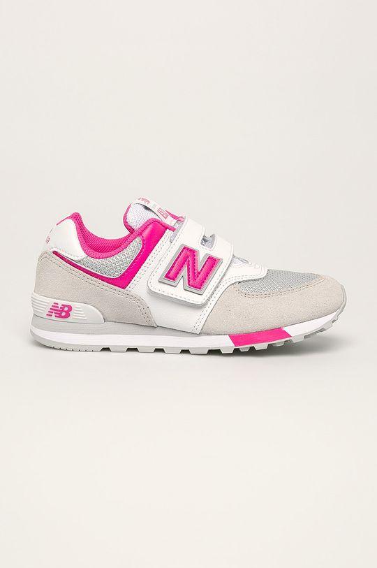 biela New Balance - Detské topánky YV574FNG Dievčenský