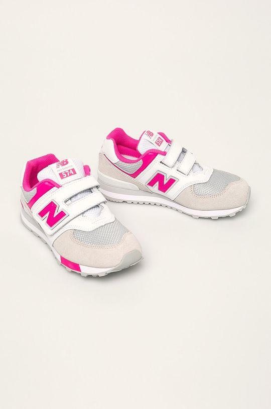 New Balance - Detské topánky YV574FNG biela