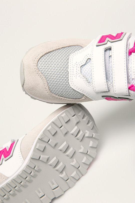 biela New Balance - Detské topánky YV574FNG