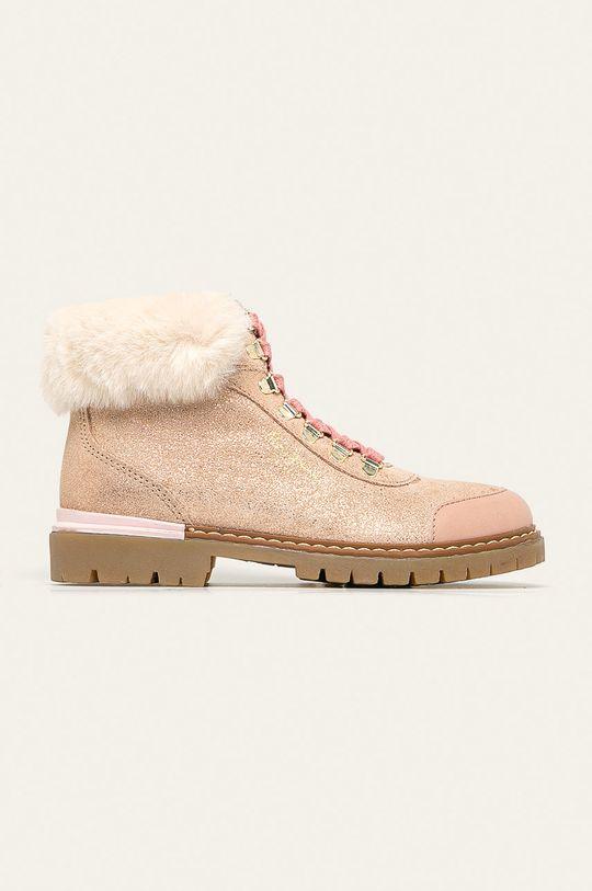 pastelově růžová Pepe Jeans - Dětské boty Combat Mountain Dívčí