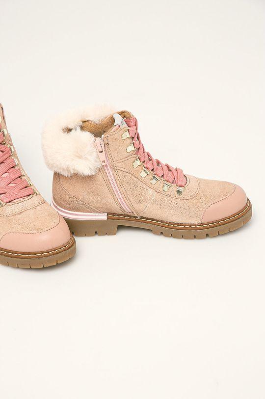 Pepe Jeans - Dětské boty Combat Mountain pastelově růžová