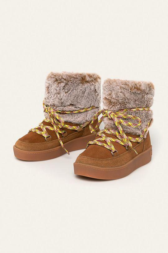 Pepe Jeans - Dětské sněhule zlatohnědá