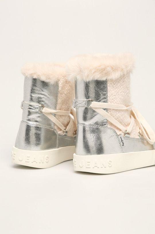 Pepe Jeans - Dětské sněhule Brixton Girl Metal Svršek: Umělá hmota, Textilní materiál Vnitřek: Textilní materiál Podrážka: Umělá hmota