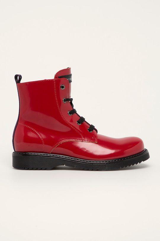 czerwony Tommy Hilfiger - Botki dziecięce Dziewczęcy
