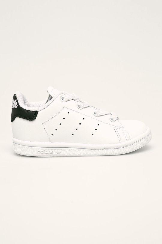 biela adidas Originals - Detské topánky Stan Smith El I Detský