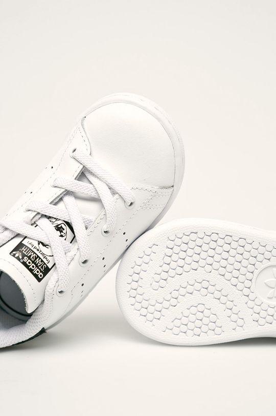 biela adidas Originals - Detské topánky Stan Smith El I