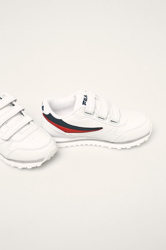 Fila - Detské topánky Orbit Velcro Low biela