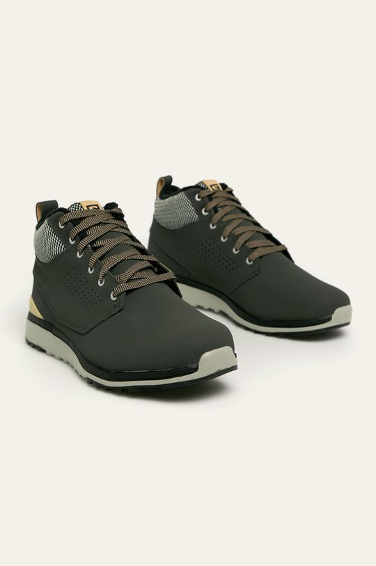 Salomon - Kožené boty Utility Freeze tlumená zelená