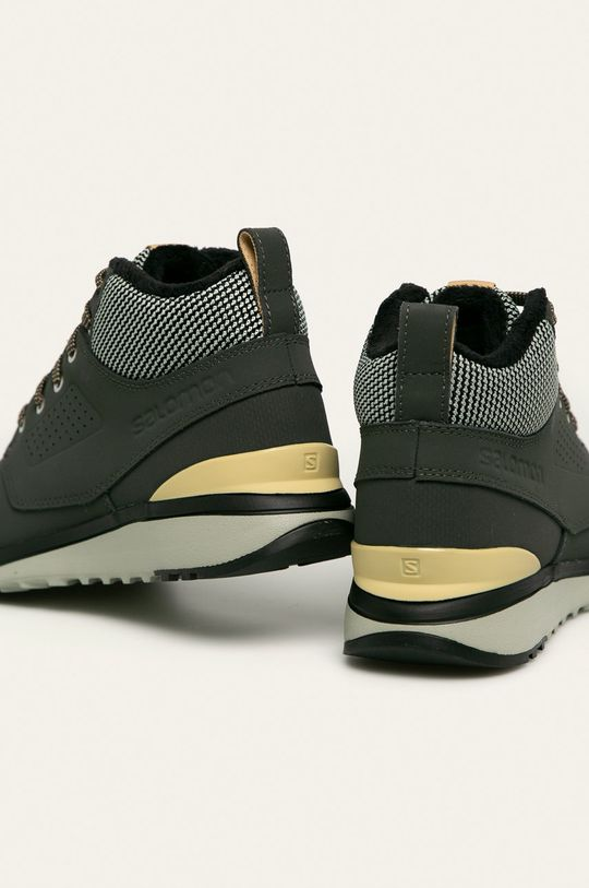 tlumená zelená Salomon - Kožené boty Utility Freeze