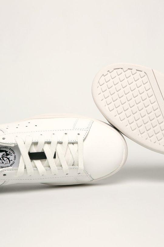 biały Diesel - Buty skórzane