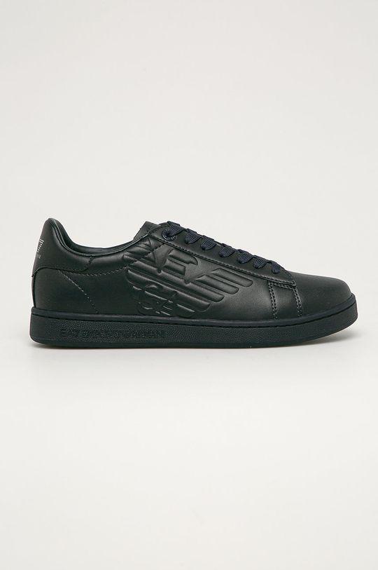 námořnická modř EA7 Emporio Armani - Kožené boty Pánský