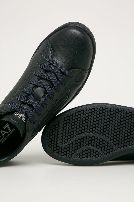 námořnická modř EA7 Emporio Armani - Kožené boty