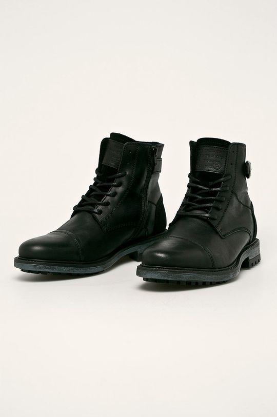 Mustang - Buty skórzane czarny