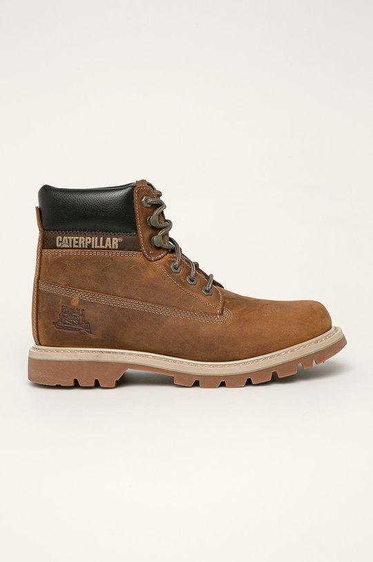 hnědá Caterpillar - Kožené boty Pánský